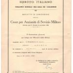 Decreto Croce d'Argento per anzianità di servizio