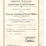 Decreto Croce d'Oro per anzianità di servizio