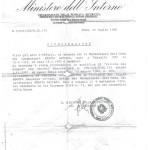 Decreto riconoscimento Vittima del Dovere
